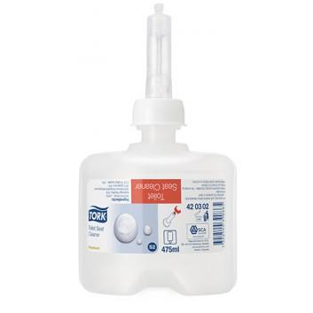 TORK S2 Toilettensitz-Reiniger; für Tork S2; antibakterielle Wirkung nach Norm EN1040; farblos; 8 Boxen a 475 ml