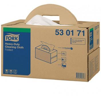 TORK Reinigungsvlies, Handybox; 38,5 x 43,0 cm (B x L); 1-lagig; weiß; 200 Tücher; Mit textiler Oberflächenstruktur
