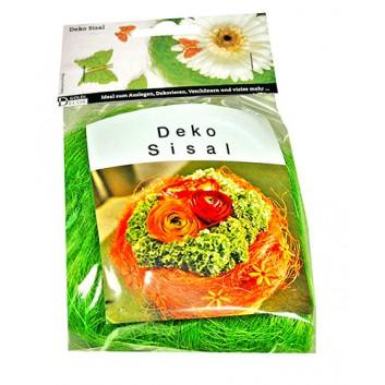 GoldiDecor Deko-Wolle, Sisal; grasgrün; 15g-Beutel; uni; Sisal