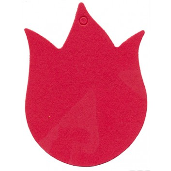 Anhängekarten; ca. 55 x 41 mm; rot; mit Aufhängeloch/-stanzung; ohne Faden; ca. 50 x 41 mm; Karton; Tulpe, klein; A101231-004