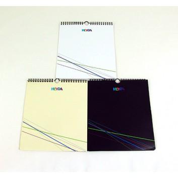 Heyda Bastelkalender immerwährend; schwarz / beige / weiß; 21,5 x 24cm; 20-7045.; 1 Monat = 1 Seite; immerwährend