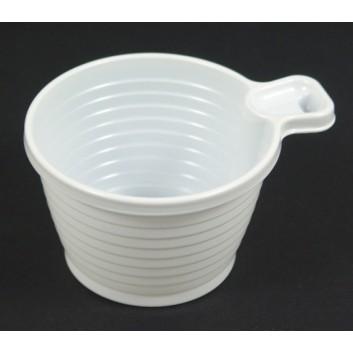 Duni Plastiktassen; 210 ml; weiß; PS = Polystyrol, recycelbar