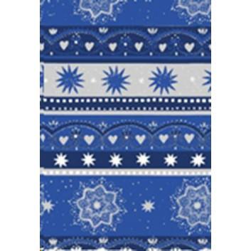 Weihnachts-Seidenpapier; 50 x 70 cm; Sterne, verschiedene; blau-silber; 666116; Seidenpapier, geprägt, ca. 30g/qm; Rückseite unbedruckt