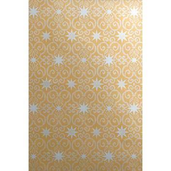 Weihnachts-Geschenkpapier, Großrolle; 50 cm x 250 m; Sterne und Ornamente; gold-silber; 6A6313; Geschenkpapier, gestrichen-glatt 80 g/qm
