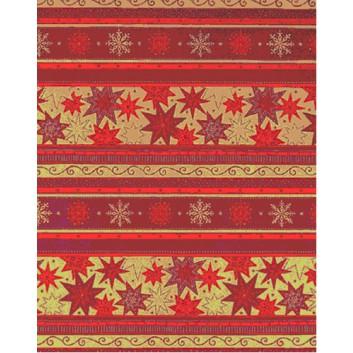 Weihnachts-Geschenkpapier, Großrolle; 50 cm x 250 m / 70 cm x 250 m; Weihnachts-Sterne, Weihnachts-Symbole; rot; 1A5353