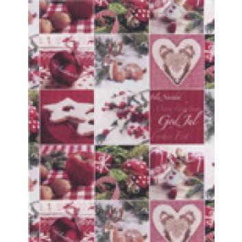 Weihnachts-Geschenkpapier, Großrolle; 50 cm x 250 m / 70 cm x 250 m; Weihnachts-Symbole; weitere; 2A5354; Geschenkpapier, gestrichen-glatt, 80g/qm