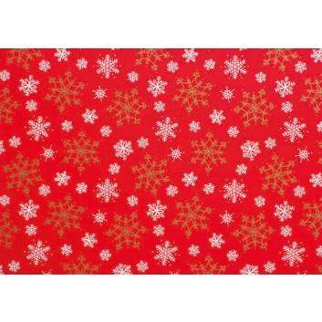Weihnachts-Geschenkpapier, Großrolle; 50 cm x 250 m / 70 cm x 250 m; Weihnachts-Sterne; rot; 2A5434; Geschenkpapier, gestrichen-glatt, 80g/qm