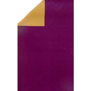 Geschenkpapier; 50 cm x 250 m; bicolor, zweiseitig farbig; lila-gold; 11116; Geschenkpapier, glatt; Secare-Rolle; lila: matt; gold: leicht glänzend