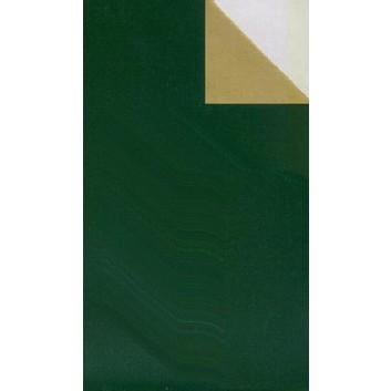 Geschenkpapier; 50 cm x 250 m; bicolor, zweiseitig farbig; grün-gold; 90100; Geschenkpapier, glatt; Secare-Rolle; grün: glänzend; gold matt
