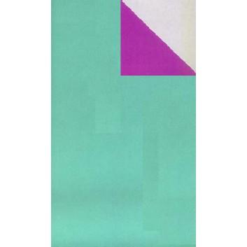 Geschenkpapier; 50 cm x 250 m / 70 cm x 250 m; bicolor, zweiseitig farbig; türkis-purple; 70128; Geschenkpapier, glatt; Secare-Rolle