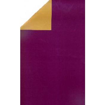 Geschenkpapier; 70 cm x 250 m; bicolor, zweiseitig farbig; lila-gold; 11116; Geschenkpapier, glatt; lila: matt; gold: leicht glänzend