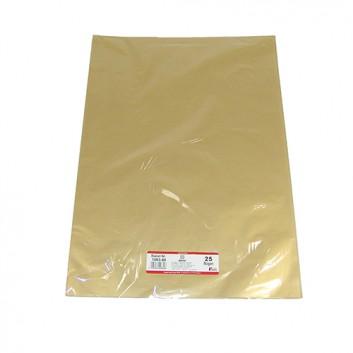 Werola Blumenseide, metallic; 50 x 70 cm; uni; 1-seitig farbig: gold; # 80; Seidenpapier, farbfest nach EN 646; Bogen; nicht ausblutend