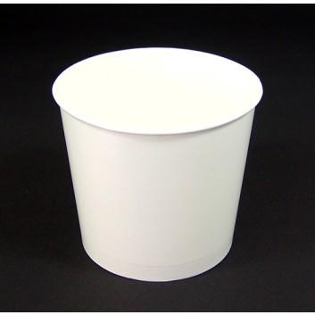 Becher; 580 ml; weiß, unbedruckt; Hartpapier, innen PE-beschichtet; DU oben: 109 mm / Höhe: 95 mm; 611 ml