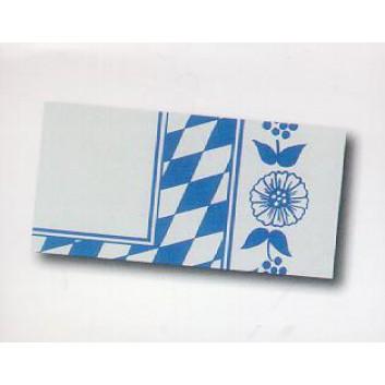 Duni Mitteldecke; 84 x 84 cm; bayerisch Raute+Rankenmotiv; weiß-blau; Dunicel: saugfähig, reißfest