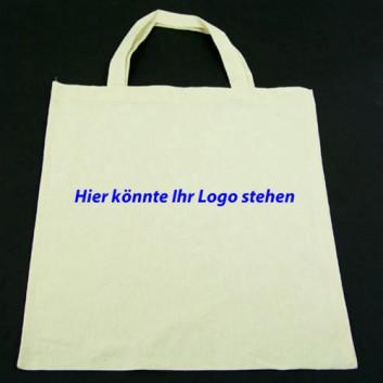Baumwoll-Tragetaschen mit Firmendruck; Preisbeispiel: 32 x 42 cm; 1-farbig, 1-seitig bis 50% Farbdeckung; nach Ihren Vorgaben