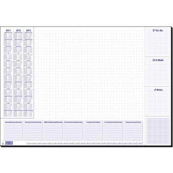 Sigel Schreibunterlage Lilac; lila auf weiß; Papier; 41 x 59,5 cm; 4 mm; mit 3 Jahresübersicht; stabile Leimung an Ober-und Unterkante