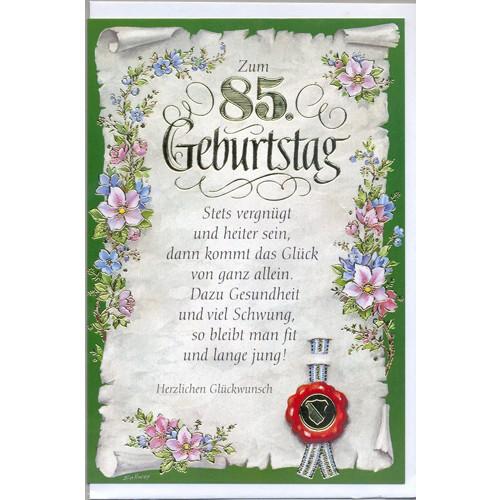 Gl ckwunschkarte zum 85 geburtstag - Geschenke zum 85 geburtstag ...