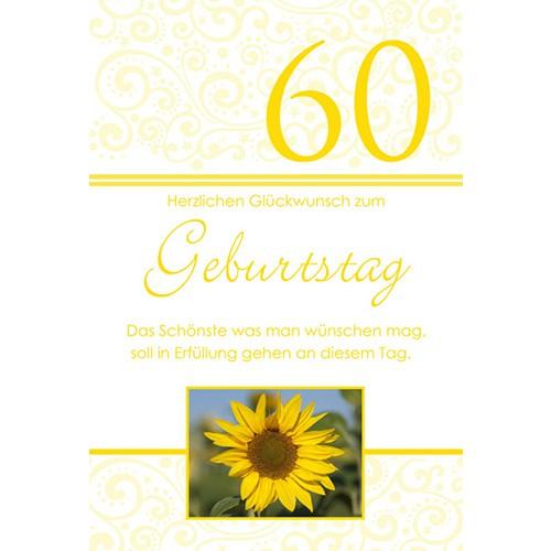Gluckwunschkarte Zum 60 Geburtstag