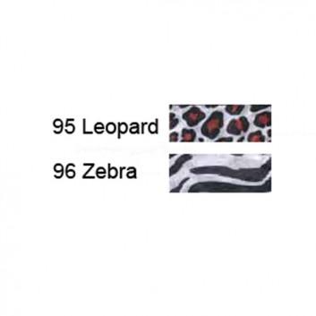 Werola Blumen- und Bastelseide; 50 x 70 cm; Zebra / Leopard; nicht ausblutend; ca. 20 g/qm; Seidenpapier, Farbfest nach EN 646