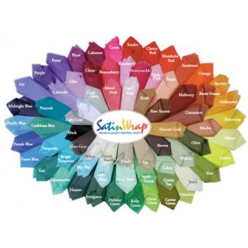 Seidenpapier farbecht - Kleinpack; 50 x 76 cm; uni; über 70 Farben (auf Anfrage); farbecht, nicht ausblutend; ca. 17 g/qm