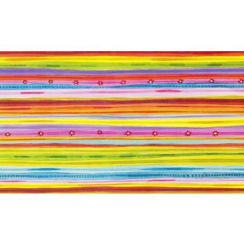 Geschenkpapier; 50 cm x ca. 250 m; Streifen; bunt; 22; Geschenkpapier gestrichen weiß, glatt; Secare-Rolle