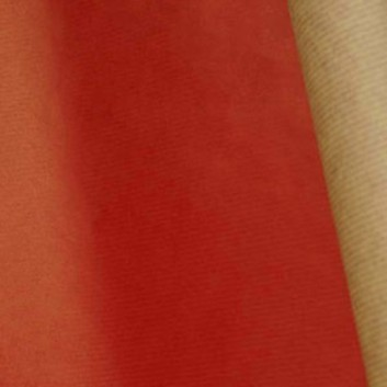 Geschenkpapier; 50 cm Breite, Rollengewicht: ca. 11 Kilo; uni, einseitig farbig; rot, Rückseite: naturbraun; 7002; Kraftpapier braun, enggerippt