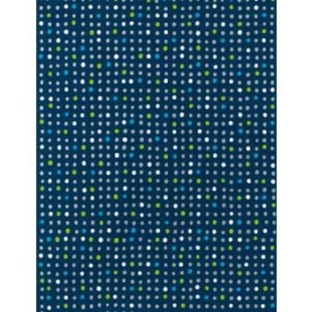 Geschenkpapier; verschiedene Formate; Pünktchen; weiß-blau-grün auf schwarz; 4A2346; Geschenkpapier gestrichen weiß, glatt; ca. 80 g/qm