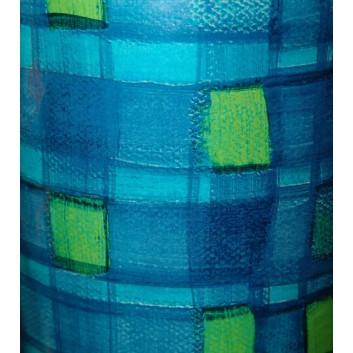 Geschenkpapier; 70 cm x ca. 250 m; Netz; blau-türkis-grün; 001; Kraftpapier, weiß-glatt; Secare-Rolle