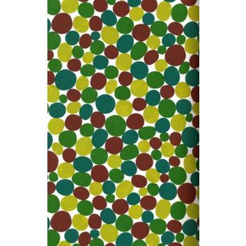 Bolis Geschenkpapier; 70 cm x 50 m; Punkte; grün-braun; 2038-72; Offset weiß, glatt; 50m-Midirolle