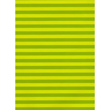 Bolis Geschenkpapier; 70 cm x 50 m; Blockstreifen; helllgrün; 2039-34; Offset weiß, glatt; 50m-Midirolle; Rückseite unbedruckt weiß