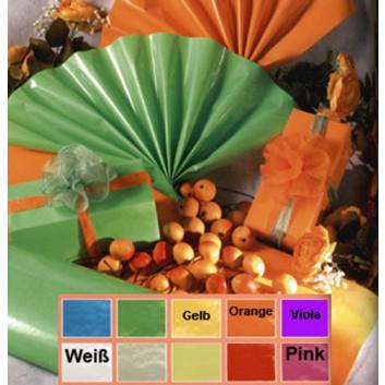 Geschenkpapier - Lackpapier; 70 cm x 20 m; uni, einseitig farbig; viele Farben, Rückseite: weiß-matt; Offset weiß, glatt; 20m-Minirolle; 60 g/qm