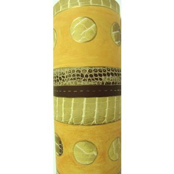 Geschenkpapier; 70 cm x 100 m; Streifen; Steine; braun; 2043/85; Offset weiß, glatt; 100m-Maxirolle
