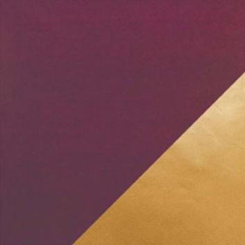 Geschenkpapier; 50 cm x 250 m; bicolor, zweiseitig farbig; burgund-gold; 11169; Kraftpapier, weiß gestrichen glatt; Secare-Rolle; ca. 70 g/qm