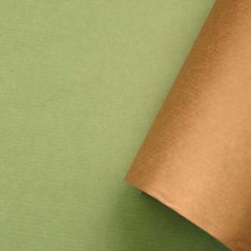 Geschenkpapier; 50 cm x 250 m; bicolor, zweiseitig farbig; moosgrün-braun; 119005; Kraftpapier, braun enggerippt; Secare-Rolle; ca. 60 g/qm