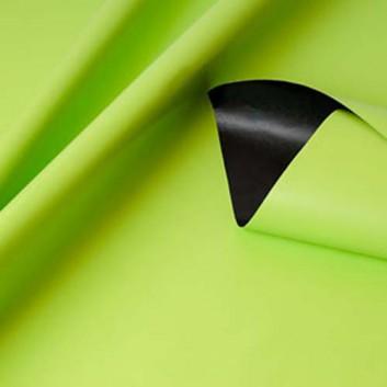 Geschenkpapier; 50 cm x 250 m; bicolor, zweiseitig farbig; hellgrün-schwarz; 80157; Kraftpapier, weiß gestrichen glatt; Secare-Rolle; ca. 70 g/qm