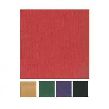 Geschenkpapier; 50 cm x 250 m / 70 cm x 250 m; uni, einseitig farbig; verschiedene Farben; Kraftpapier braun oder weiß, enggerippt; Secare-Rolle