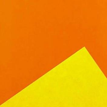 Geschenkpapier; 50 cm x 250 m / 70 cm x 250 m; bicolor, zweiseitig farbig; orange-gelb; 80133; Geschenkpapier, glatt; Secare-Rolle