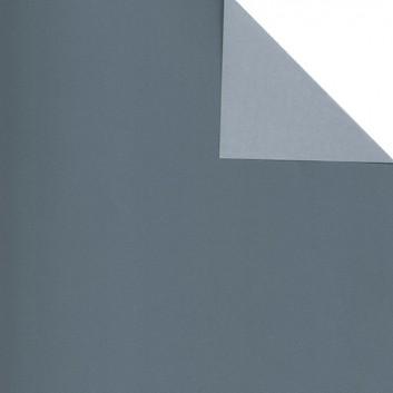 Geschenkpapier; 50 cm x 250 m; bicolor, zweiseitig farbig; anthrazit-hellgrau; 60244; Eco color; Secare-Rolle; keine Herstellerangabe