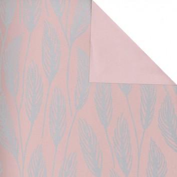 Geschenkpapier; 50 cm x 250 m; Grafikmotiv: Avignon (Gräser); hellrosé-gold - Rückseite: hellrosé; 60551; Eco Pure; Secare-Rolle