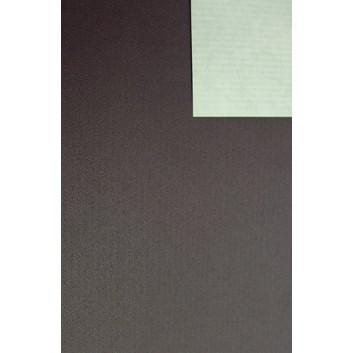 Geschenkpapier; 50 cm x 250 m / 70 cm x 250 m; bicolor, zweiseitig farbig; dunkelbraun - elfenbein; 60097; Kraftpapier weiß, enggerippt