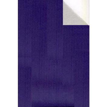 Geschenkpapier; 70 cm x 250 m; bicolor, zweiseitig farbig; blau-silber; 60070; Kraftpapier, braun enggerippt; Secare-Rolle