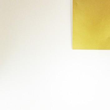 Geschenkpapier; 50 cm x 250 m / 70 cm x 250 m; bicolor, zweiseitig farbig; creme,pearl - gold; 70154; Artline matt gestrichen, glatt; Secare-Rolle