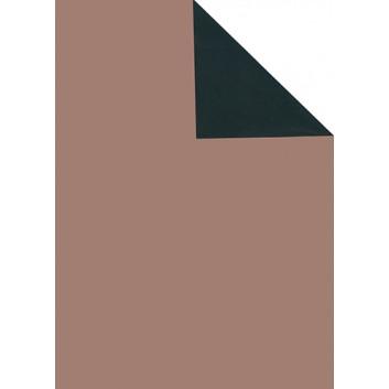 Geschenkpapier; 50 cm x 250 m / 70 cm x 250 m; bicolor, zweiseitig farbig; rosé - schwarz; 70156; Artline forte gestrichen weiß, glatt