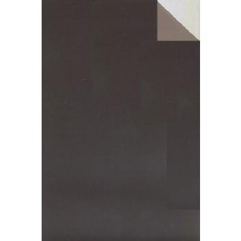 Geschenkpapier; 50 cm x 250 m / 70 cm x 250 m; bicolor, zweiseitig farbig; braun-graubraun; 70209; Geschenkpapier, glatt; Secare-Rolle