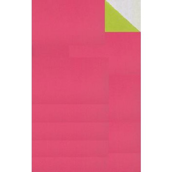 Geschenkpapier; 70 cm x ca. 250 m; bicolor, zweiseitig farbig; pink-apfelgrün; 70114; Geschenkpapier, glatt; Secare-Rolle