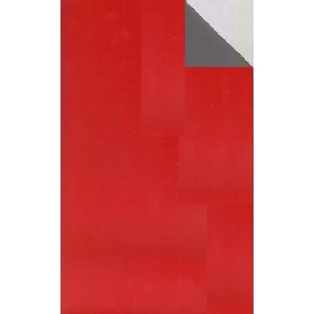 Geschenkpapier; 70 cm x ca. 250 m; bicolor, zweiseitig farbig; rot-grau; 70210; Geschenkpapier, glatt; Secare-Rolle; rot: glänzend; grau: matt