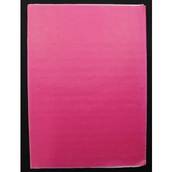 Geschenkseide; 50 x 75 cm; uni; rosa  (teilweise verblichen); Seide, geprägt; Bogen, einmal gelegt; ca. 25 g/qm