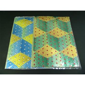 Geschenkpapier; 50 x 70 cm; verschiedene Metallic- & Hologrammmotive; Bogen, einmal gelegt