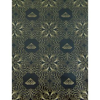 Geschenkfolie; 60 x 90 cm; Diamant; braun-gold; Bogen