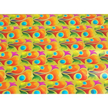Geschenkpapier - Sonderpreis; 70 x 100 cm, gerollt; bunte Ornamente; bunt; bunt; Offset, glatt; Bögen gerollt; Offsetpapier: Inhalt 25 Bögen